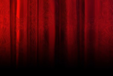 Red velvet curtain with texture