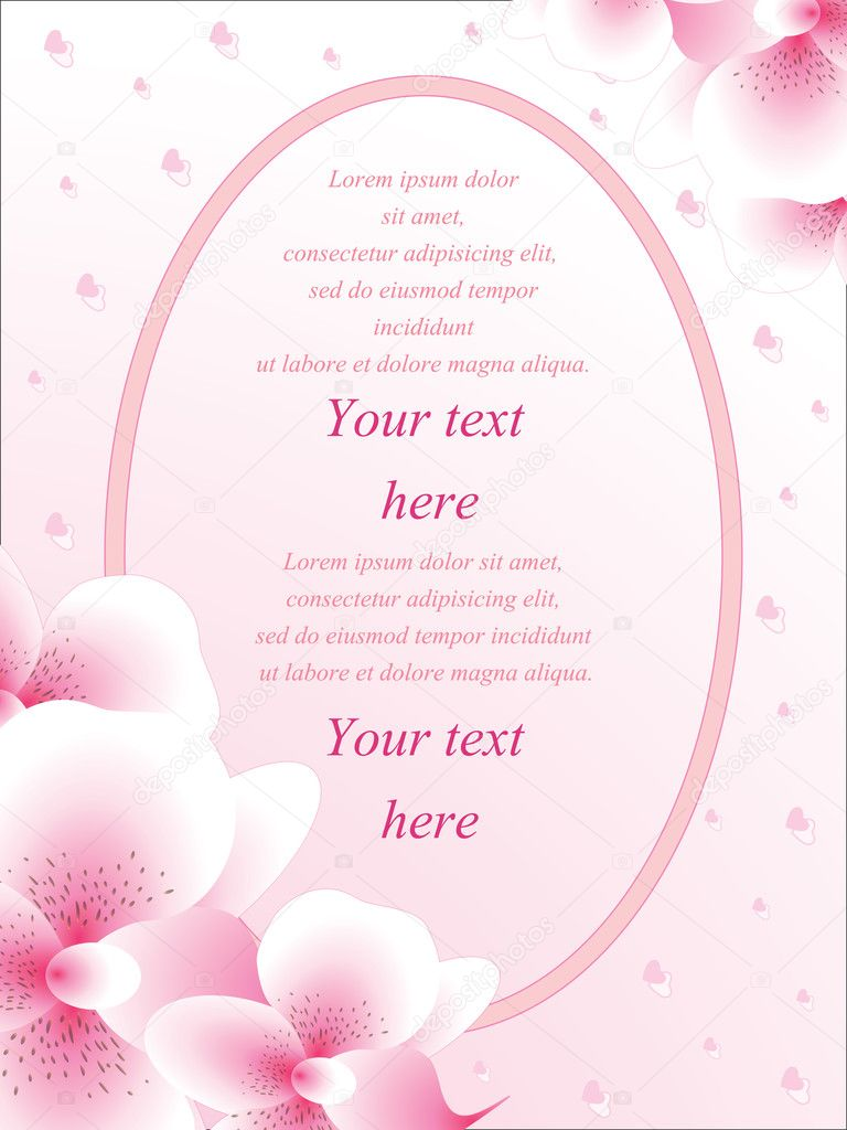 Vector wedding card or invitation — Stock Vector © Martanovak #12868314