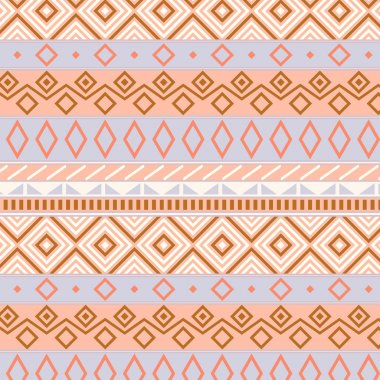 Native american traditional seamless pattern in pastel colors, vector