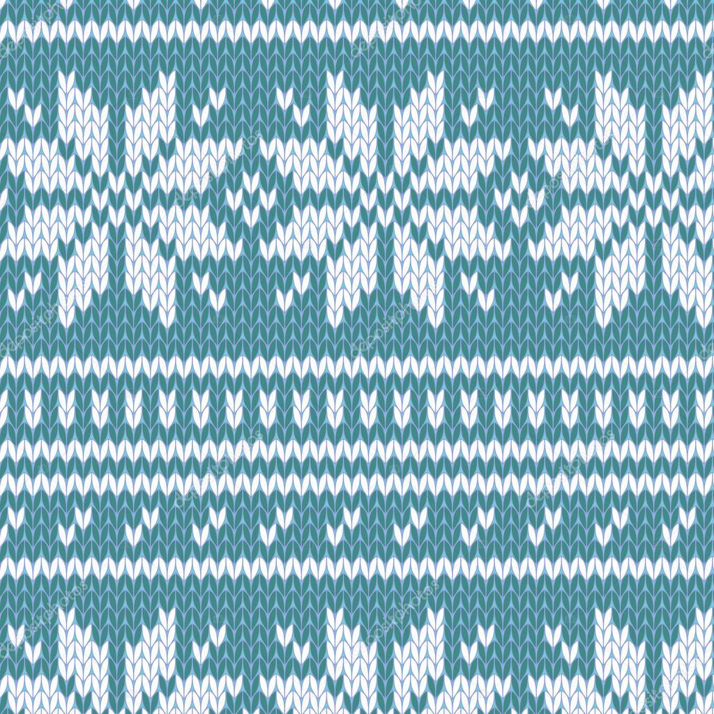 Skandinavische muster blau  Pullover nahtlose Muster in blau, Vektor — Stockvektor #12640832