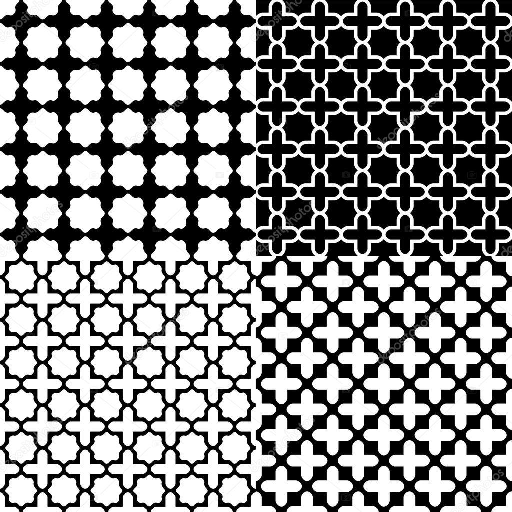 marokkanische schwarz wei nahtlose muster set vektor stockvektor natalyon 19847167. Black Bedroom Furniture Sets. Home Design Ideas