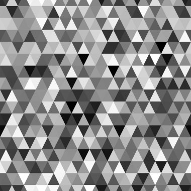 Abstract black and white geometric triangle seamless pattern, vector