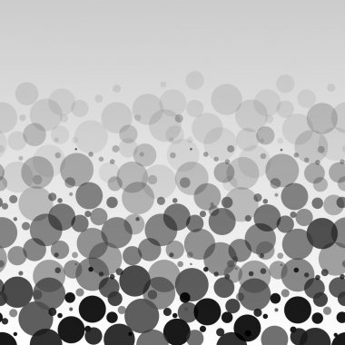 Black and white bubbles horizontal seamless pattern, vector