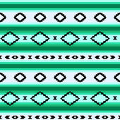 Photo Striped mexican blanket seamless pattern in green, vector