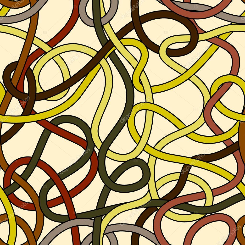 chaotische wirren dr hte nahtlose muster in gelb und braun vektor stockvektor natalyon. Black Bedroom Furniture Sets. Home Design Ideas