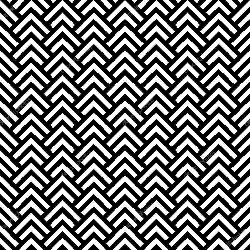 Black and white chevron geometric seamless pattern, vector
