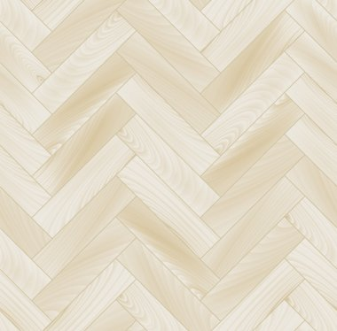 Realistic white wooden floor chevron parquet seamless pattern, vector