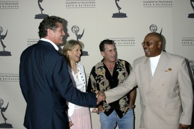 David Hasselhoff, Lindsay Wagner, Paul Michael Glaser and Roger Mosley