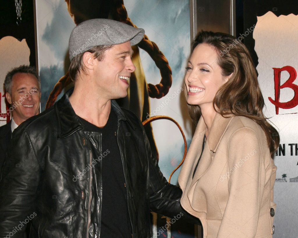 Brad Pitt and Angelina Jolie at the