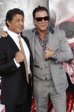 Sylvester Stallone, Mickey Rourke