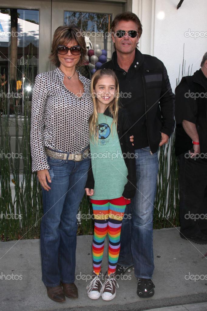 Lisa Rinna, Harry Hamlin, daughter – Stock Editorial Photo