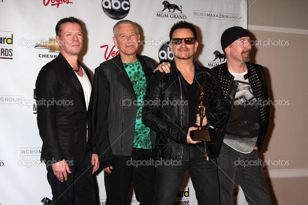 U2 (Larry Mullen Jr, Adam Clayton, Bono and The Edge