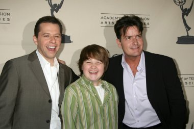 Jon Cryer, Angus T. Jones, and Charlie Sheen