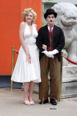 Marilyn Monroe & Charlie Chaplan Look-a-likes