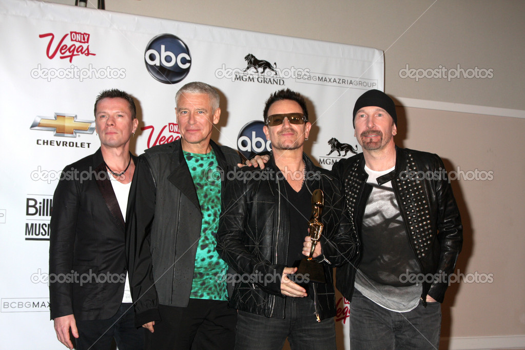 U2 (Larry Mullen Jr, Adam Clayton, Bono and The Edge