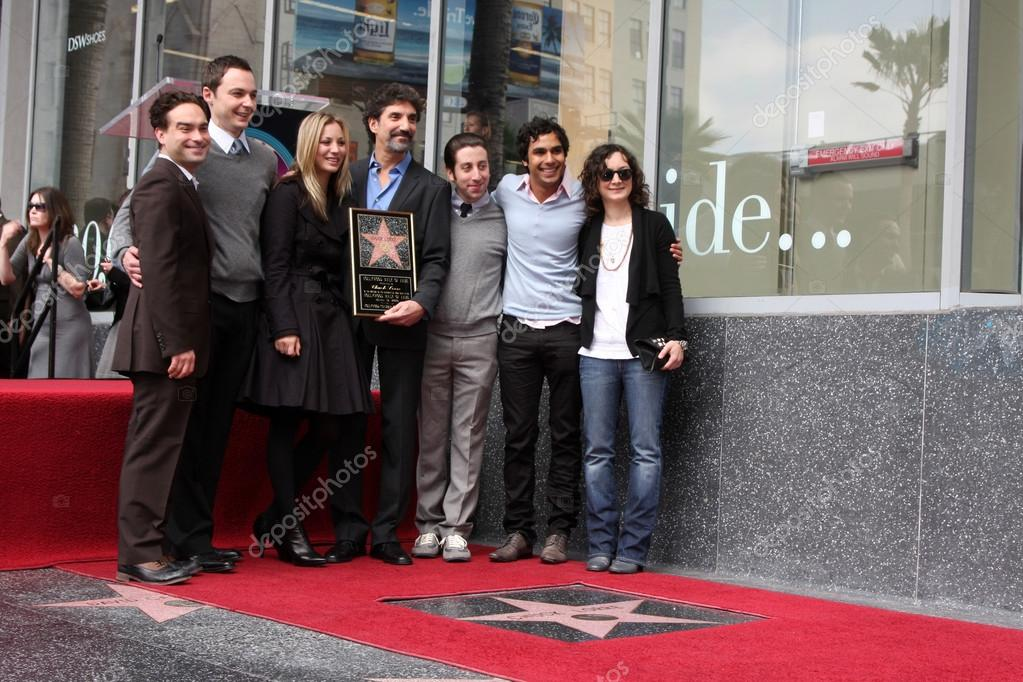 Chuck Lorre & the cast of The Big Bang Theory