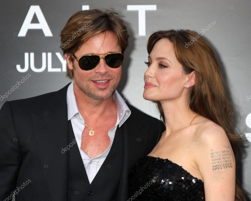 LOS ANGELES - JUL 19: Brad Pitt and Angelina Jolie arrive at the