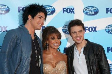 Adam Lambert, Paula Abdul, & Kris Allen