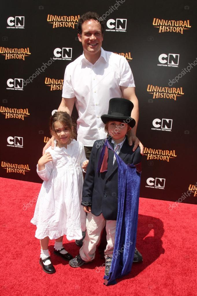 diedrich bader and kids stock editorial photo jean nelson 13105738