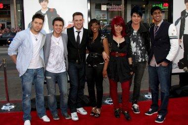 Danny Gokey, Kris Allen, Matt Giraud, Lil Rounds, Allison Iraheta, Adam Lambert and Anoop Desai
