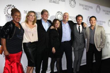 Shield Cast, CCH Pounder, Catherine Dent, Kenny Johnson, Cathy Ryan, Shawn Ryan, Walton Goggins, Benito Martinez