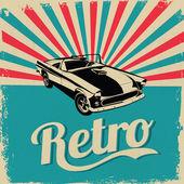 Fényképek Vintage autó design szórólap - szutykos stílus vector design