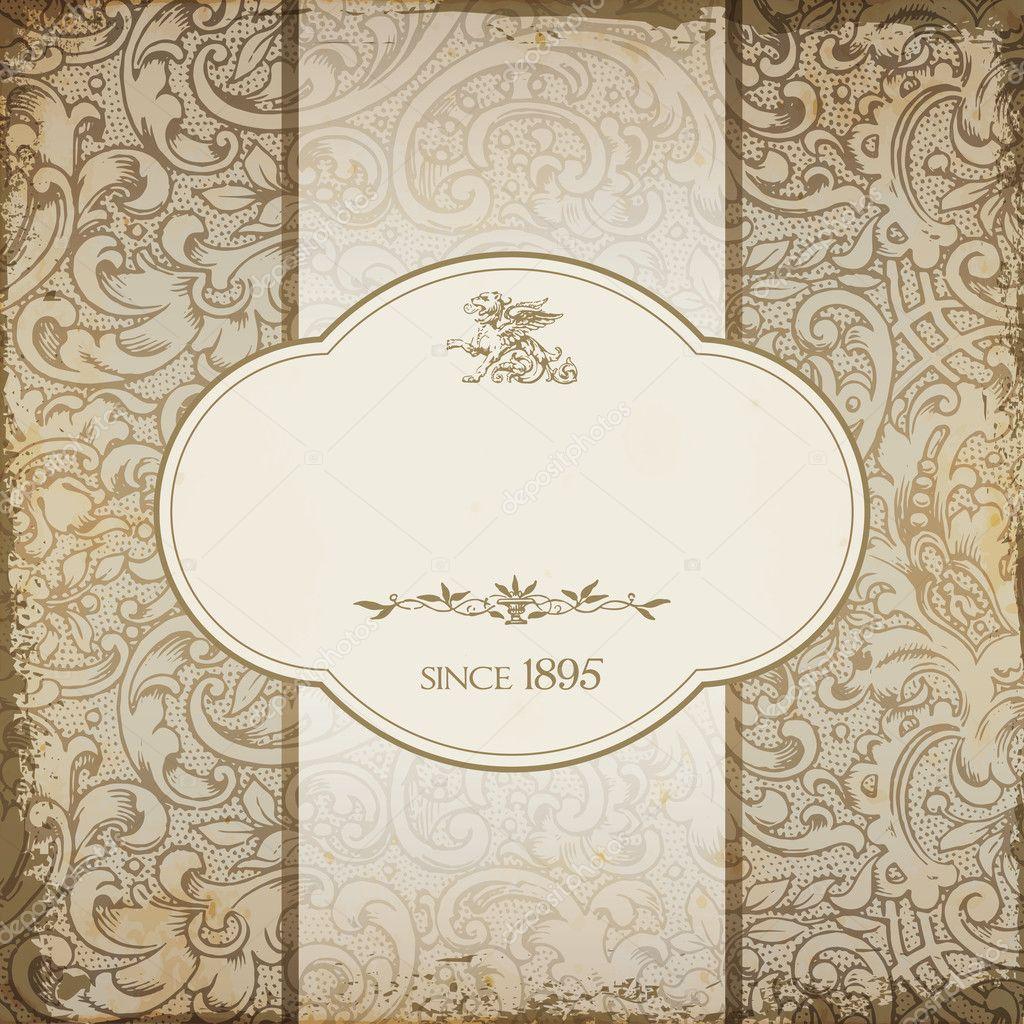 Background Floral For Menu Card Vintage Elegant Restaurant Menu Card With Floral Background Stock Vector C Mpaniti 23707743