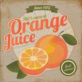 Fotografie Orange juice retro flyer vintage illustration