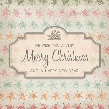Merry Christmas greeting card ornament decoration background.
