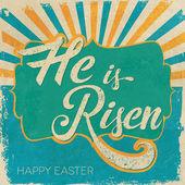 Velikonoční přání. On vstal z mrtvých.
