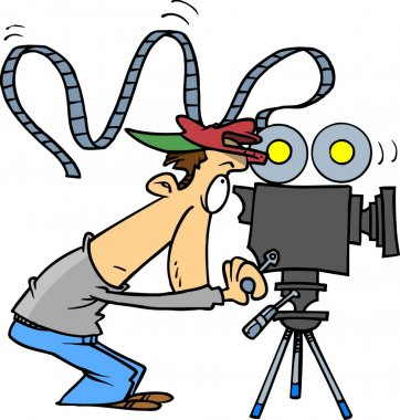 Cartoon Movie Camera Operator