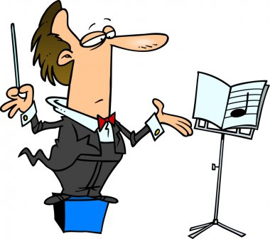 Cartoon Music Conductor