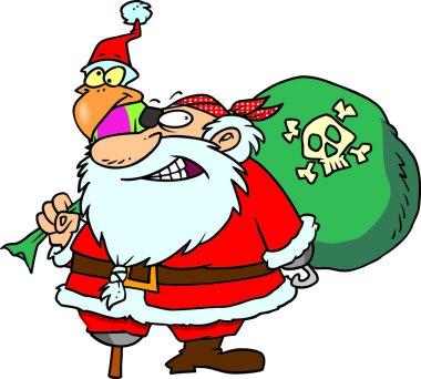 Cartoon Pirate Santa