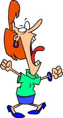 Cartoon Woman Screaming