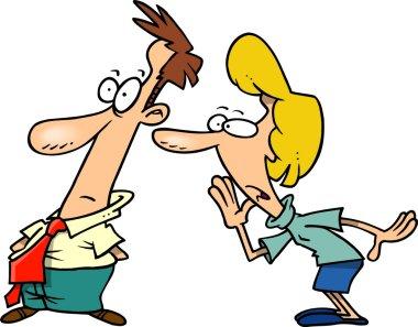 Cartoon Whisper Secre