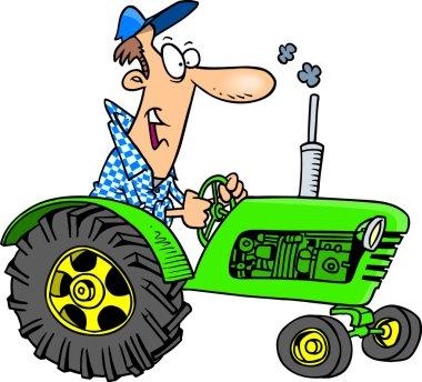 Cartoon Farmer Tractor