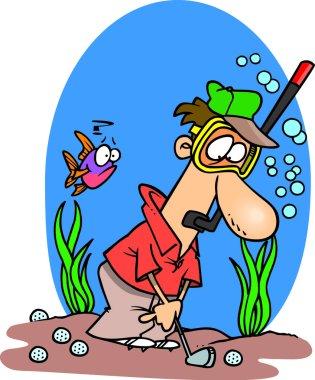 Cartoon Golf Water Hazard