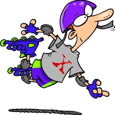 Cartoon Extreme Rollerblader
