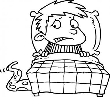 Cartoon Monster Under the Bed