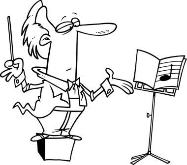 Cartoon Music Conductor