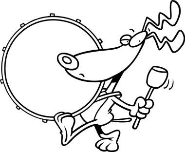 Cartoon Dog Drum