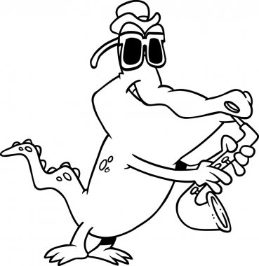 Cartoon Gator Blues