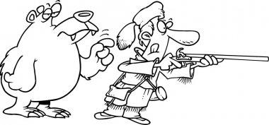 Cartoon Frontiersman