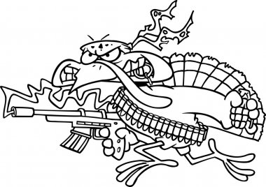 Cartoon Rambo Turkey