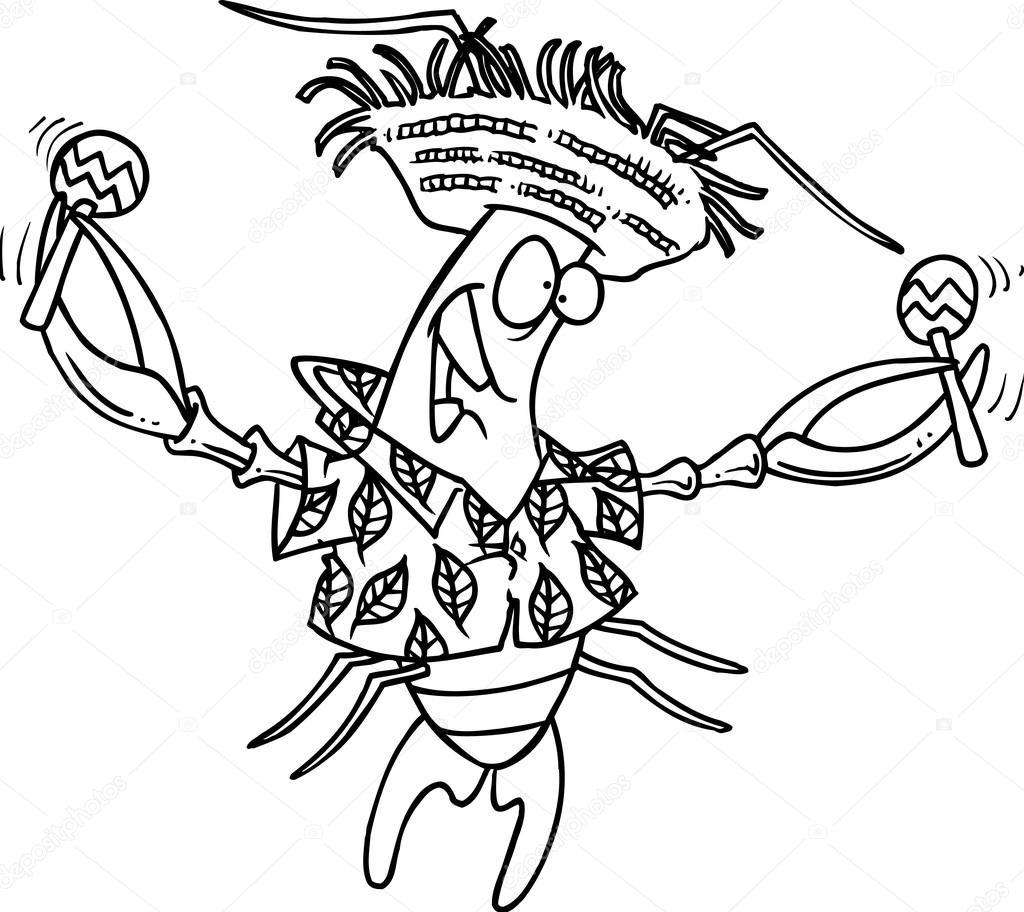 dibujos animados Calipso cigalas — Vector de stock © ronleishman ...