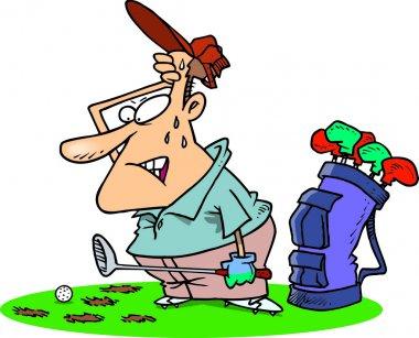Cartoon Golf Divots