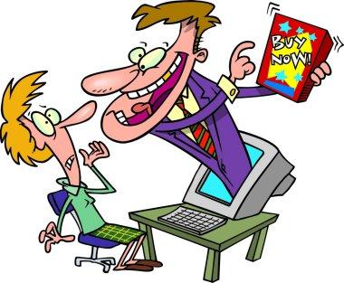 Cartoon Online Advertising
