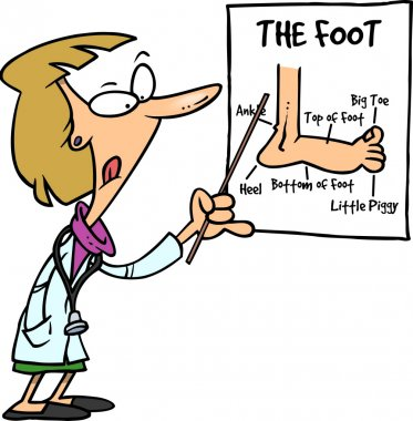 Cartoon Female Podiatrist Doctor