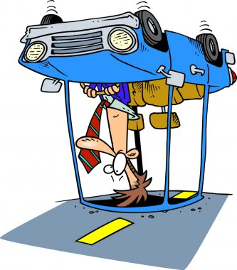 Cartoon Car Rollover