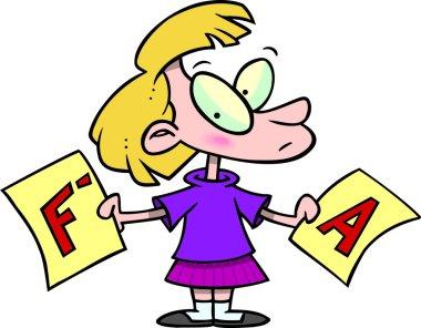 Cartoon Report Card Grades